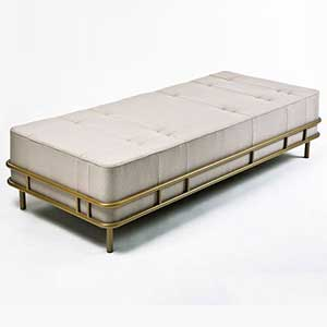 Metal Bench with cushion Manufacturer